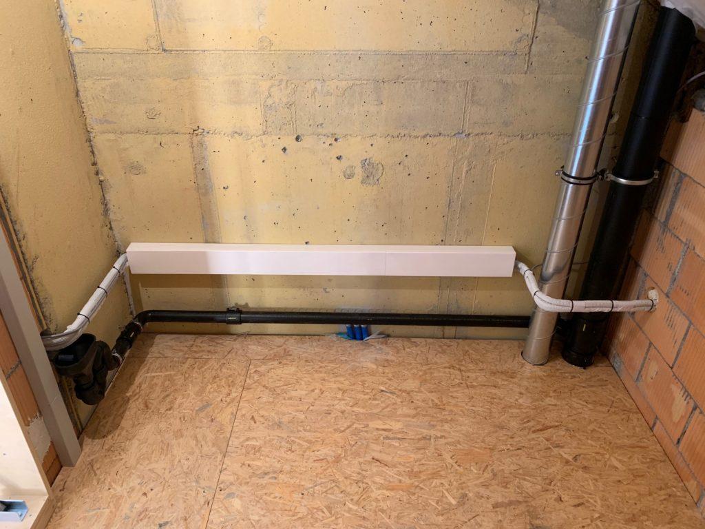 Klimaanlage Leitungsführung in Estrich