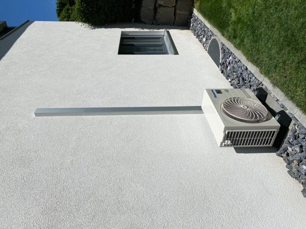 Klimaanlage Leitungsführung in Aluminiumkanal